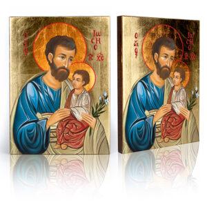 Ikona religijna Święty Józef z Dzieciątkiem Jezus