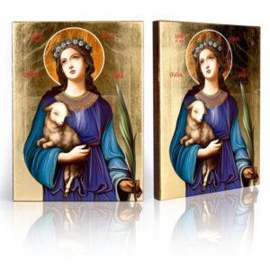 Ikona religijna Święta Agnieszka