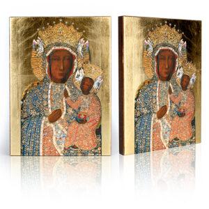 Ikona Matka Boża Częstochowska w sukience diamentowej