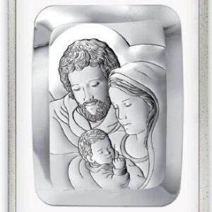 Obrazek srebrny Świętej Rodziny 34×44 cm