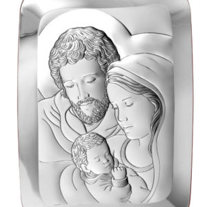 Obrazek srebrny Świętej Rodziny 13×18 cm