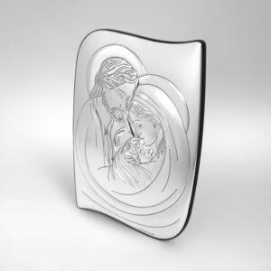 Święta Rodzina  obrazek srebrny 18,5×26 cm