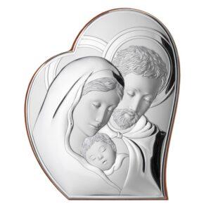 Srebrny obrazek Świętej Rodziny 27 x 32,6 cm
