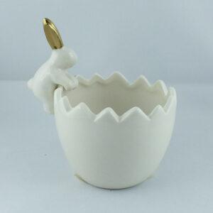 Doniczka ceramiczna skorupka jajka