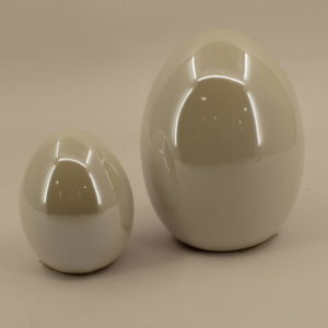 Jajko ceramiczne białe perłowe