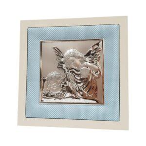 Obrazek srebrny anioł czuwający z latarenką – Dla chłopca