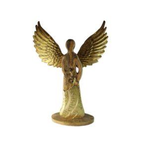 Anioł drewniano złoty