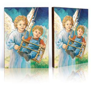 Ikona – Anioł Stróż na huśtawce