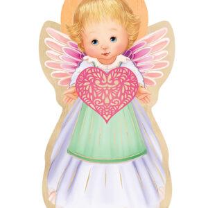 Ikona – Anioł Stróż dziewczynka z sercem