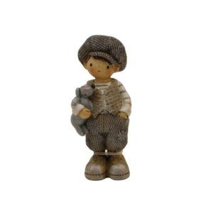 Chłopiec z pieskiem figurka