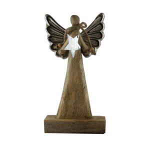 Drewniany anioł – figura