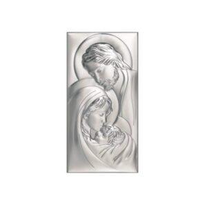 Obrazek srebrny Świętej Rodziny 12×24 cm