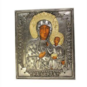 Matka Boska Częstochowska – ikona srebrna