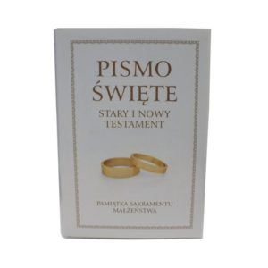 Pismo Święte prezent na ślub