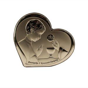 Obrazek srebrny w kształcie serca