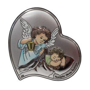 Obrazek srebrny na Chrzest Święty