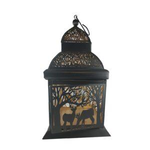 Lampion ażurowy czarny