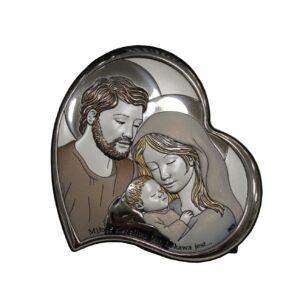 Święta Rodzina ikona srebrna