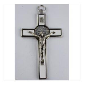 Krzyż benedyktyński biały
