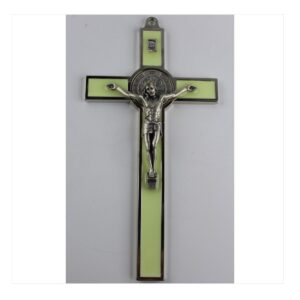 Krzyż benedyktyński fluorescencyjny