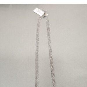 Łańcuszek srebrny rodowany 4BO 50/50 CM 15.5g