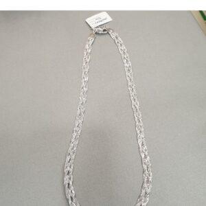 Łańcuszek – naszyjnik srebrny rodowany G040/45 cm